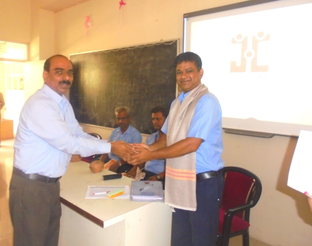 Facilitation (Mr.Mane Sudhakar HR Jaya Hind India)